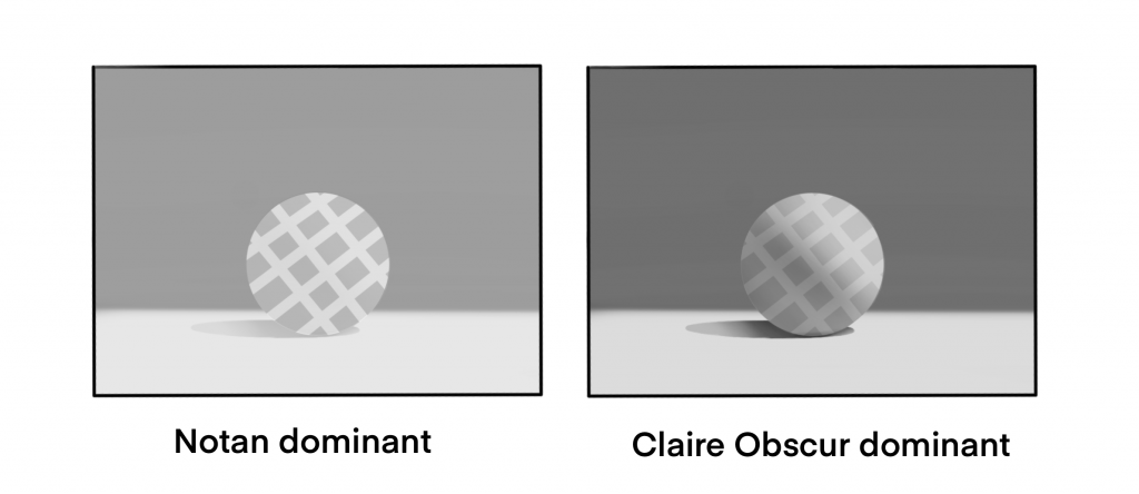 notan dominant | clair-obscur dominant